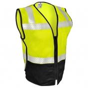 ML Kishigo FM410 Black Series Mesh FR Safety Vest - Yellow/Lime