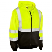 ML Kishigo JS102 Full Zip Hoodie Sweatshirt - Yellow/Lime