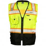 ML Kishigo S5002 Black Series Surveyor Safety Vest - Yellow/Lime