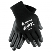 Memphis N9674 Ninja X Gloves - 15 Gauge Nylon Shell - Black PU/Nitrile Coating