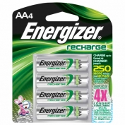 Energizer Rechargeable AA Batteries 4-pack