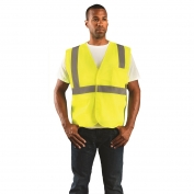 OccuNomix ECO-IM Class 2 Value Mesh Safety Vest - Yellow/Lime