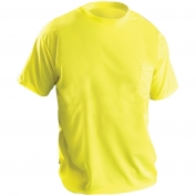 OccuNomix LUX-XSSPB Wicking Birdseye Safety T-Shirt - Yellow/Lime