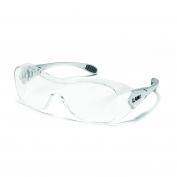 Crews Law OTG Safety Glasses - Silver Frame - Clear Anti-Fog Lens