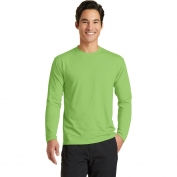 Port & Company PC381LS Long Sleeve Essential Blended Performance Tee - Lime