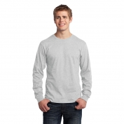 Port & Company PC54LS Long Sleeve 5.4-oz 100% Cotton T-Shirt - Ash