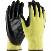 PIP 09-K1400 G-Tek CR Seamless Knit Kevlar Gloves - Nitrile Coated Smooth Grip on Palm & Fingers - Medium Weight