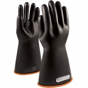 PIP 155-1-14 Novax Class 1 Rubber Insulating Gloves with Straight Cuff - 14\\\