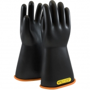 PIP 155-2-14 Novax Class 2 Rubber Insulating Gloves with Straight Cuff - 14\\\