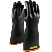 PIP 155-2-16 Novax Class 2 Rubber Insulating Gloves with Contour Cuff - 16\\\
