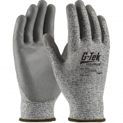 PIP 16-150 G-Tek PolyKor Seamless Knit PolyKor Blended Gloves - Polyurethane Coated Smooth Grip on Palm & Fingers