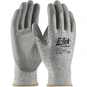 PIP 16-530 G-Tek PolyKor Seamless Knit PolyKor Blended Gloves - Polyurethane Coated Smooth Grip on Palm & Fingers