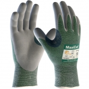 PIP 18-570 MaxiCut Seamless Knit Zormax Engineered Yarn Gloves - Nitrile Coated Micro-Foam Grip on Palm & Fingers