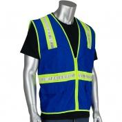 PIP 300-1000 Non-ANSI Two-Tone Surveyor Safety Vest - Blue