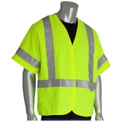 PIP 305-3000 Class 3 Solid FR Safety Vest - Yellow/Lime