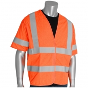 PIP 305-HSSVFR Class 3 FR Treated Solid Safety Vest - Orange