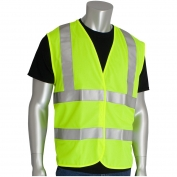 PIP 305-WCENGFR Class 2 FR Treated Solid Safety Vest - Yellow/Lime