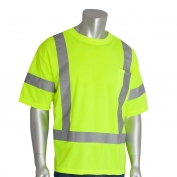 PIP 313-CNTSE Class 3 Short Sleeve Safety T-Shirt - Yellow/Lime