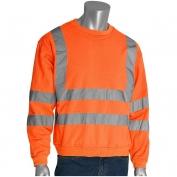 PIP 323-CNSSE Class 3 Crew Neck Safety Sweatshirt - Orange