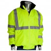 PIP 333-1762 Class 3 2-in-1 Bomber Jacket - Yellow/Lime