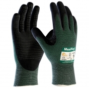 PIP 34-8443 MaxiFlex Cut Seamless Knit Gloves - Nitrile Coated Micro-Foam Dotted Grip on Palm & Fingers