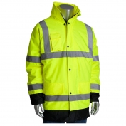 PIP 343-1755 Class 3 Value Insulated Winter Coat - Yellow/Lime