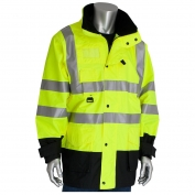 PIP 343-1756 Class 3 7-in-1 All Conditions Winter Coat - Yellow/Lime
