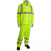 PIP 353-1000LY Class 3 Two-Piece Value Rainsuit - Yellow/Lime