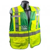 Full Source PSV-EMS ANSI 207 Public Safety Vest - Lime & Green