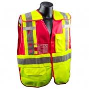 Full Source PSV-FIRE ANSI 207 Public Safety Vest - Lime & Red