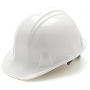 Pyramex HP14110 Hard Hat - 4-Point Ratchet Suspension - White