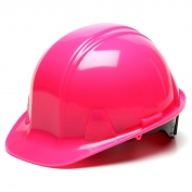Pyramex HP14170 Hard Hat - 4-Point Ratchet Suspension - Hi-Viz Pink