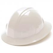 Pyramex HP26110 Full Brim Hard Hat - 6-Point Ratchet Suspension - White
