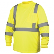 Pyramex RLTS3110 Class 3 Long Sleeve Safety Shirt - Yellow/Lime