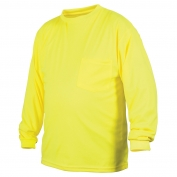Pyramex RLTS3110NS Non ANSI Long Sleeve Safety Shirt - Yellow/Lime