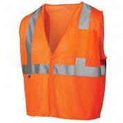 Pyramex RVZ2120SE Class 2 Self Extinguishing Mesh Safety Vest - Orange