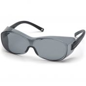 Pyramex OTS Safety Glasses - Black Temples - Gray Lens