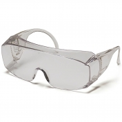 Pyramex Solo Safety Glasses - Clear Jumbo Frame - Clear Lens