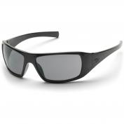 Pyramex Goliath Safety Glasses - Black Frame - Gray Polarized Lens