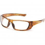 Pyramex Outlander Safety Glasses - Caramel Frame - Clear Lens