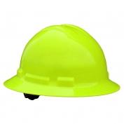 Radians QHP4 Quartz Full Brim Hard Hat - 4-Point Pinlock Suspension - Hi-Viz Green