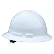 Radians QHR4 Quartz Full Brim Hard Hat - 4-Point Ratchet Suspension - White