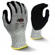 Radians RWG534 AXIS Cut Level 3 Work Gloves - Micro Sandy Foam Nitrile Coating