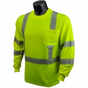 Radians ST24-3PGS Class 3 Mesh Safety Shirt with UV Protection - Yellow/Lime