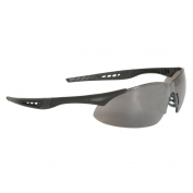 Radians Rock Safety Glasses - Black Frame - Silver Mirror Lens