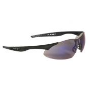 Radians Rock Safety Glasses - Black Frame - Blue Mirror Lens