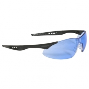 Radians Rock Safety Glasses - Black Frame - Light Blue Lens