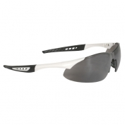 Radians Rock Safety Glasses - White Frame - Silver Mirror Lens