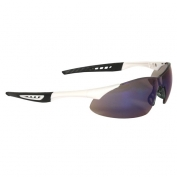 Radians Rock Safety Glasses - White Frame - Blue Mirror Lens