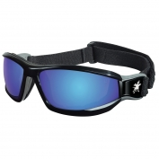 Crews Reaper Goggles - Black Frame - Blue Mirror Lens